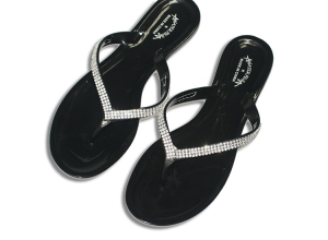 Silicon Slipper Crystalized black