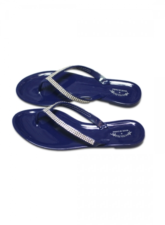 Silicon Slipper Crystalized blue